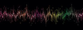 Et farverigt spektrogram