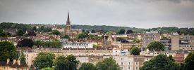 Ansicht der Skyline von Bristol, Vereinigtes Königreich