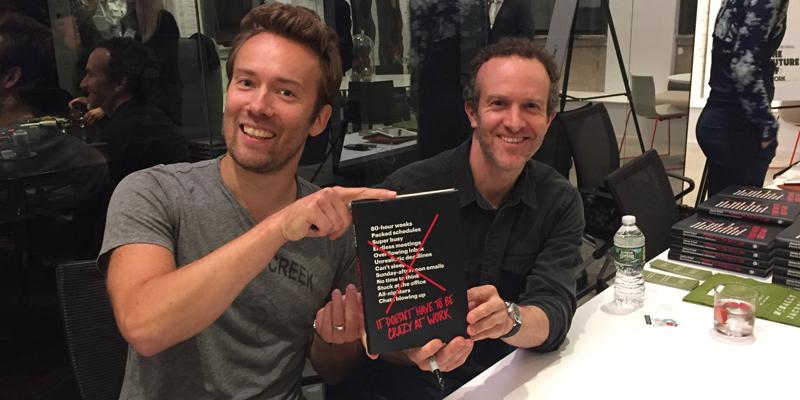 Basecampの本の著者ジェイソン・フリード氏とデイヴィッド・ハイネマイヤー・ハンソン氏