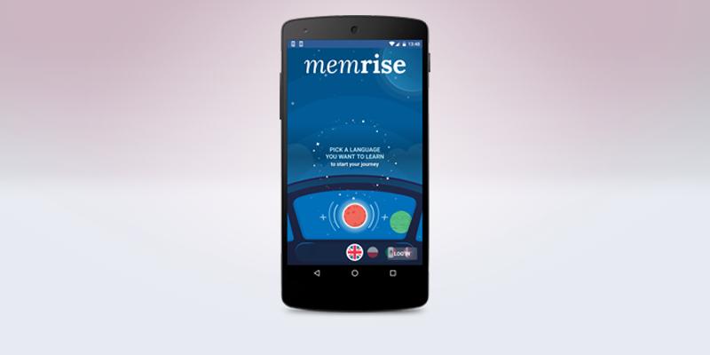 スマートフォンの画面にあるMemriseのロゴ