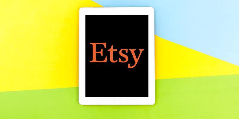 iPad上のEtsyロゴ