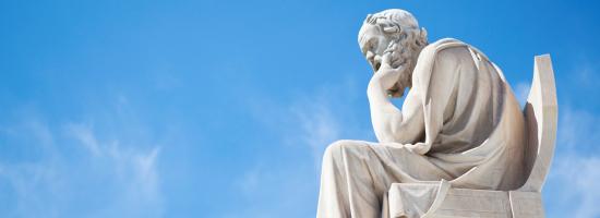 Statue of philosopher Socrates