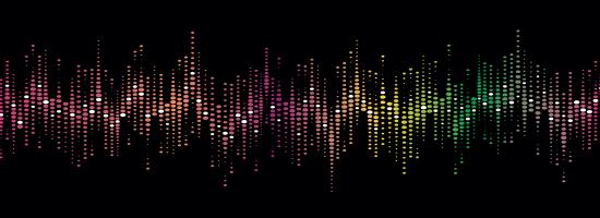 A colorful voice soundprint