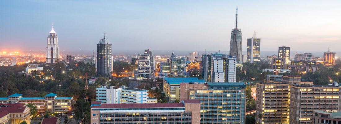 Cityscape view of Nairobi, Kenya