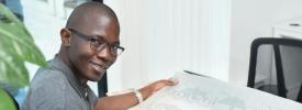 Kenyan entrepreneur, Fredrik Ochieng